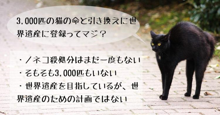 3,000匹の猫の命と引き換えに世界遺産に登録