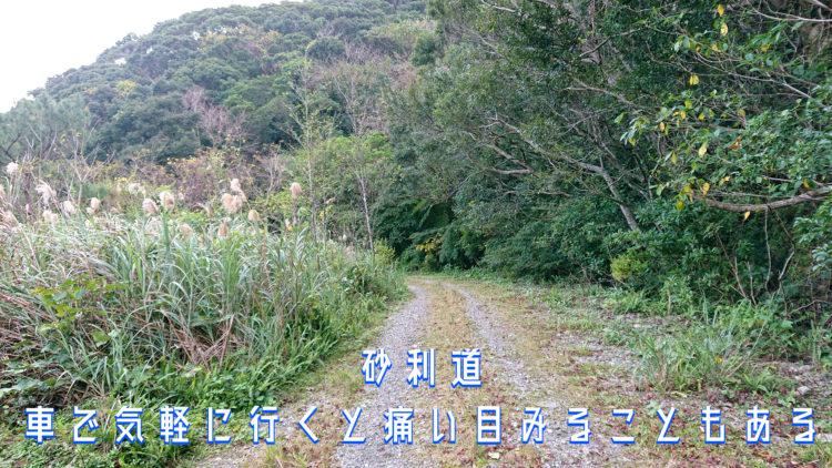 奄美の砂利道